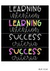 Learning Intentions and Success Criteria Board Prompts