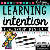 EDITABLE Learning Intentions Display