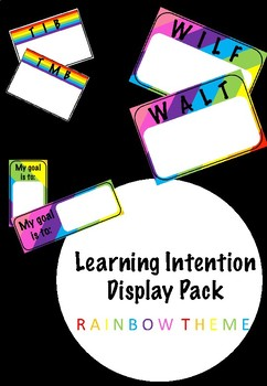 Learning Intentions Display Bundle WALT/WILF TIB/TMB