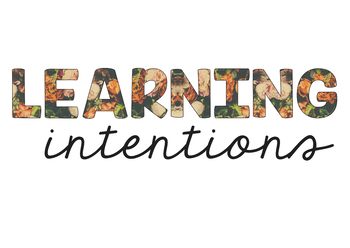 Learning Intentions Poster
