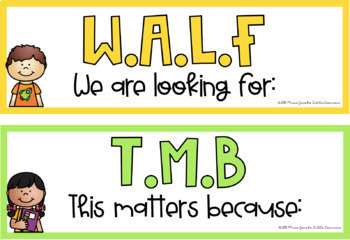 Learning Intentions Posters - WALT / WALF / WILF {Rainbow Classroom Decor}