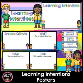 Learning Intentions Posters and Cards