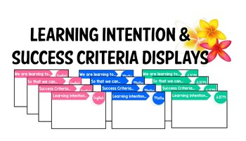 Learning Intentions & Success Criteria: Australian Curriculum Subject Labels