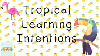 Tropical Theme Learning Intentions - Editable #ausbts18