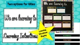 Learning Intentions / WALT Display FREEBIE