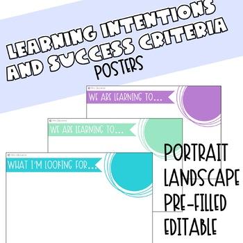 Learning Intentions - WALT & WILF Landscape
