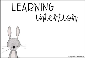 Learning Intentions Woodland Theme - EDITABLE