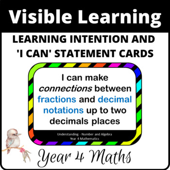 Learning Intentions and I can statements for Year 4 Mathematics