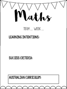 Learning Intentions and Success Criteria.
