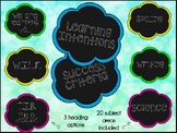 Learning Intentions and Success Criteria Posters + Subject Posters
