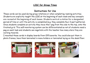 Learning Intentions and Success Criteria for Group Times