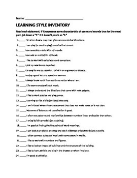Learning Inventory