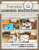 Learning Invitations: Full Day Kindergarten, Early Learning, First Grade, Reggio