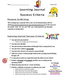 Learning Journal Success Criteria