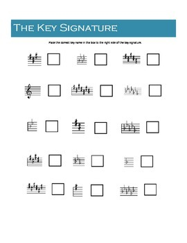 Learning Key Signatures