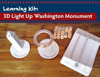 Learning Kit: 3D LED Washington Monument {Hard Good} for 25 | President's Day