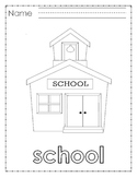 Learning Language coloring pages Back to School Newcomers ESL Kindergarten
