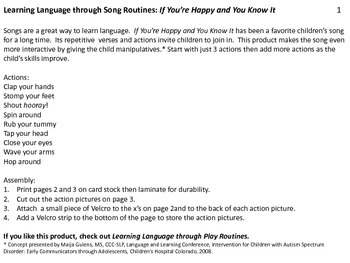 Learning Language through Song Routines: If You're Happy