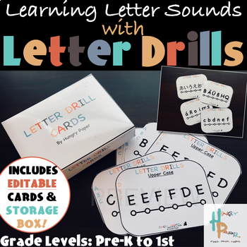 Learning Letter Sounds with Letter Drill Cards