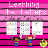 Alphabet Activities Letter Names and Recognition Sorting Printable