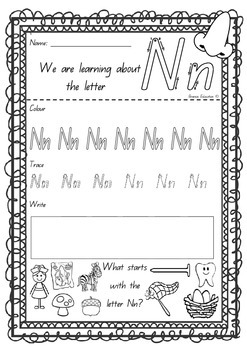 Learning Letters Alphabet Printables x26