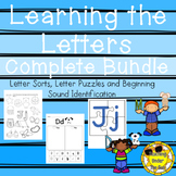 Alphabet Sorts, Letter Names, Letter Sounds, Letters Puzzl