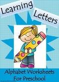 Learning Letters Alphabet Worksheets