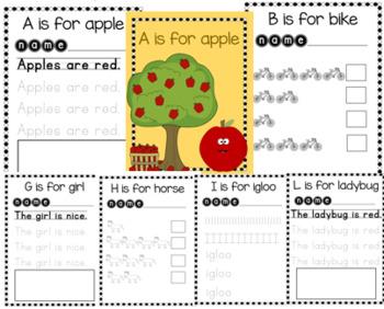 Learning Letters Bundle! Letters A-M