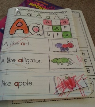 Learning Letters - Cut and Paste Pictures