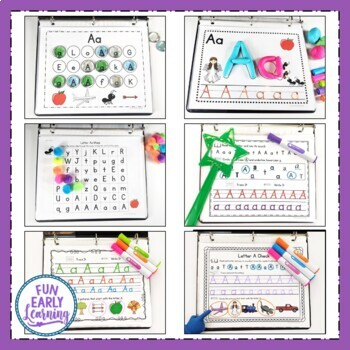 Learning Letters Hands-on Activities Binder - Identification / Phonics / Writing