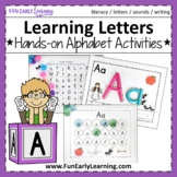 Learning Letters Binder Hands-on Letter Activities