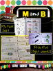 Learning Letters M and B- Minibooks, picture sorts, colori
