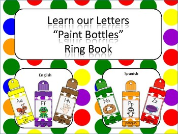 Learning Letters Paint Bottles Ring Book
