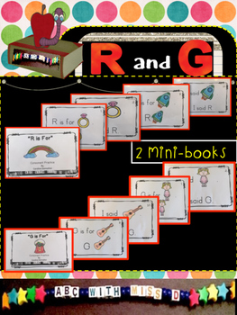 Learning Letters R and G! Mini-books, picture sorts, coloring, sight words
