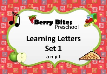 Learning Letters Set 1 - a n p t - for preschool
