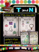 Learning Letters T and N- Minibooks, picture sorts, sight words, coloring