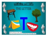 Learning Letters: THE LETTER T-- (Google Slides) Interactive Visual Exercise
