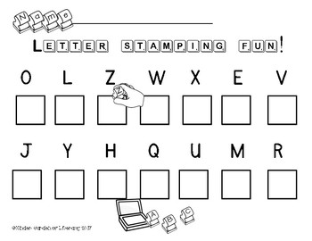 ABC Learning Letters Through Stamping
