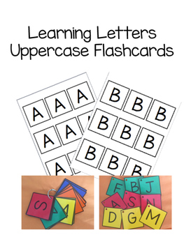 Learning Letters Uppercase Flashcards