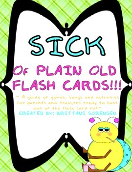 SICK of Flash Cards!  34 New, Fun Activities to do with Flash Cards