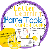 Learning Letters and Sounds Cards and Book Homework Kindergarten