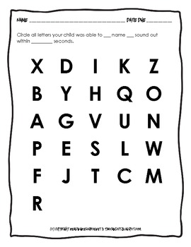Learning Letters and Sounds: Home-School Activity