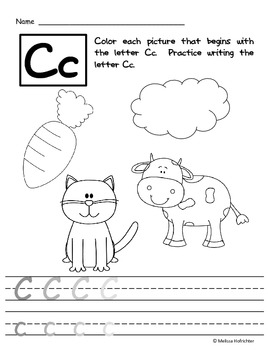 Learning Letters worksheet packets