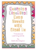 Learning Line-Ups:  Lining Up to Long Vowels with Final -e