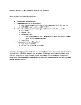 Learning Log Divider