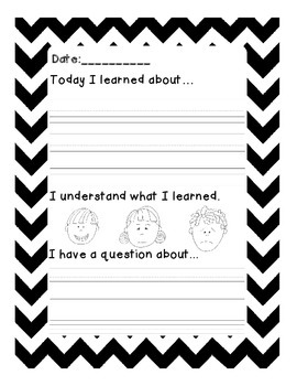Learning Log Template