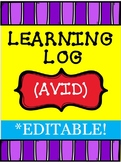 AVID: Learning Logs