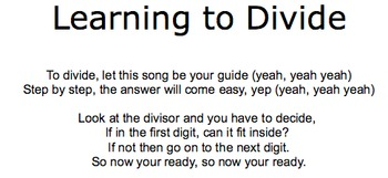 Learning Long Division Song