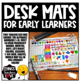 Early Learners Desk Mats using Sight Words, Colors, Number