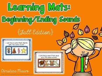 Fall Beginning/Ending Sounds Learning Mats